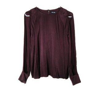 Do & Be cold shoulder sleeve top dark maroon S